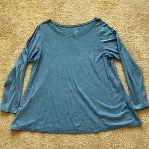 Pure Jill dusty heather blue A-line Tee